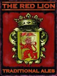 The Red Lion Pub Sign - A3 Metal Wall Sign