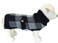 Handknitted Boston Pet Sweater (Black/Grey)