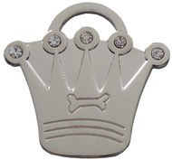 Crystal Crown ID Tag (Silver)