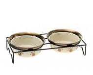 Coco & Pud Paws Bowls (2 piece) with stand