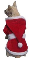 Christmas Santa Dog Coat (01) With White Belt