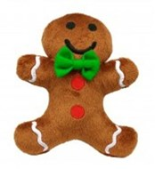 Gingerbread Man Plush Dog Toy