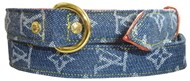 Designer LV Denim Collar & Lead Set