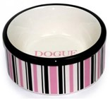 DOGUE Striped Pet Bowl (PINK)