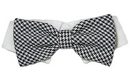 Michael Houndstooth Pet Bow Tie Collar