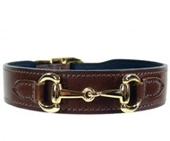 H&R Belmont Style Collar - Rich Brown & Gold