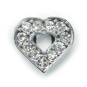 Heart Crystal Slide Charm