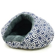 Burger Bed Modern Navy Blue