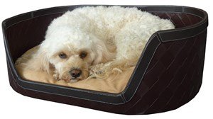 Woven Leather & Suede Pet Bed
