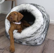 Luxe Fur Igloo Bed
