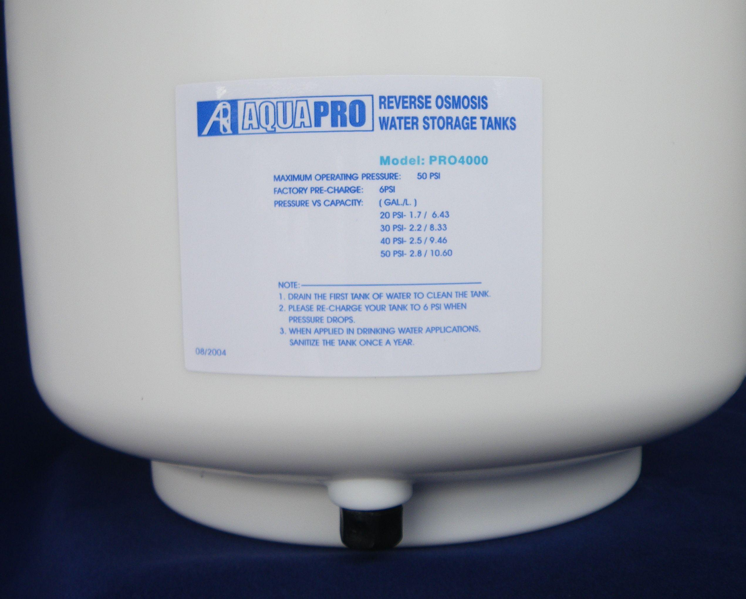 Aquapro Reverse Osmosis 4 Stage Under Sink Unit With