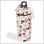 Keep Leaf Birds Small Organic Insulated Bottle Bag for 380 ml to 600 ml Bottles