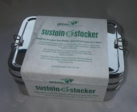 Sustain-a-Stacker Three-in-One Stainless Steel Lunch Box