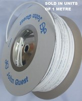 "JOHN GUEST 1/4"" HIGH PRESSURE LLDPE White Tube Product Code PE08500W"