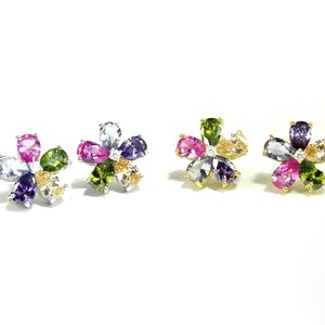 The Rainbow Flower Studs