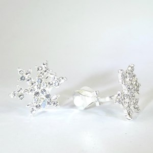 New!  The Snowflake clip-on earrings