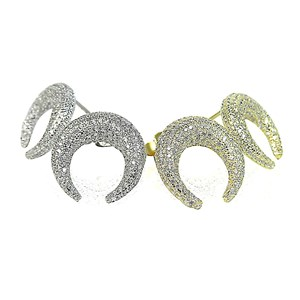 The 'Diamond' Bull Horn Earrings