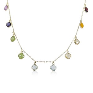 The Rainbow Clover Necklace - Real Gems
