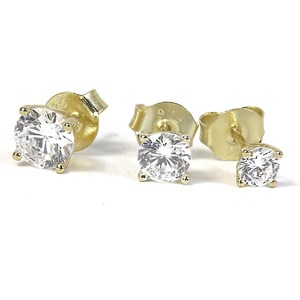 Classic Gold 'Diamond' Studs