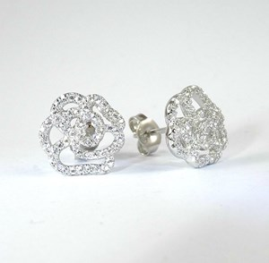 NEW! The Fabulous Diamond Flower Earrings from our Riviera Collection