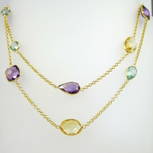 Back by massive demand!  The famous Multi Gem Necklace