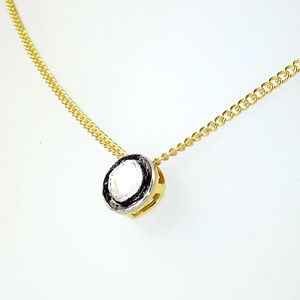 NEW!  REAL Diamond Pendant on gold-plated chain
