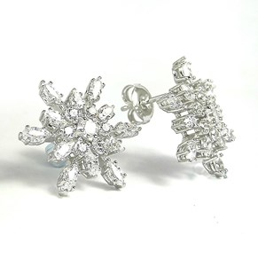 The Fabulous Snowflake Earrings