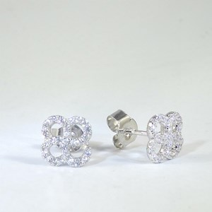 New!  Little 'Diamond' Clover Studs