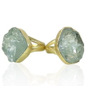 The Rough Aquamarine Ring