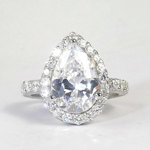 NEW! The Fabulous Pear-Shaped Diamond Cluster Ring