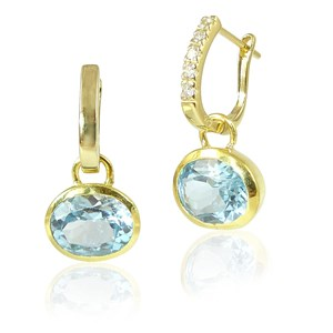 The Amazing Gold Hoops and Gemstone Ovals