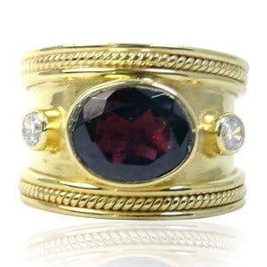 The Fabulous Red Garnet Guinevere Ring