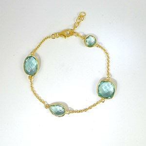 Blue-Green Quartz Gemstone Bracelets