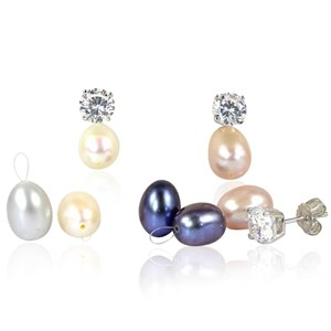 The Detachable Pearls with Diamond Studs