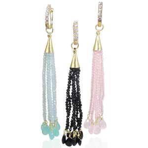 The Real Gem Tassel Earrings