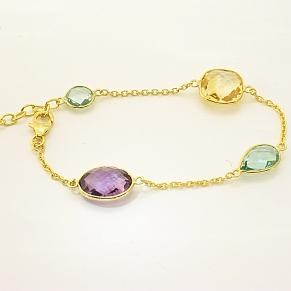 Back in stock- The Multi Gem Bracelet