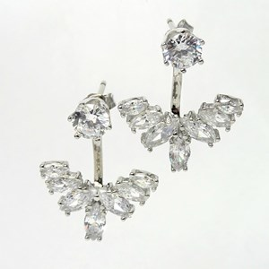 Back-To-Front Laurel Earrings
