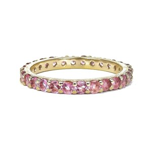 The 9crt Gold and Tourmaline Eternity Ring