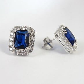 New - The 'Sapphire' Square Studs