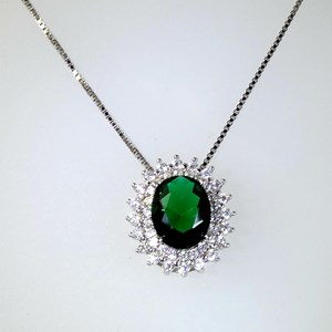 The 'Emerald' Cluster Pendant