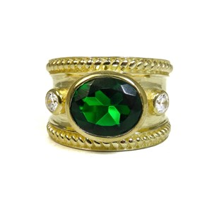 The Emerald Quartz Guinevere Ring