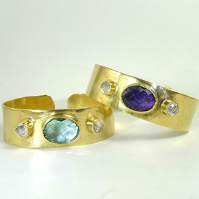 The Roman Goddess Gemstone Cuff