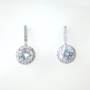 NEW!  LARGE Solitaire Drops Cluster Earrings
