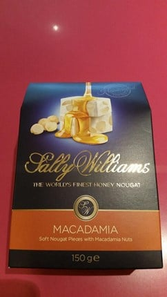 Sally Williams soft Nougat with Macadamia Nuts 150g
