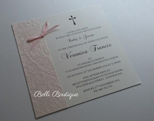 """Veronica"" Baptism/Christening Invitation"