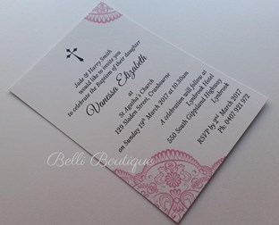 """Vanessa"" Baptism/Christening Invitation"