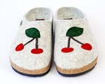 Haflinger Cherry Felt Clogs