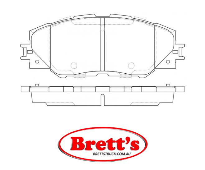 MINTEX FRONT AXLE BRAKE PADS FOR TOYOTA MDB2786 REAL IMAGE OF PART