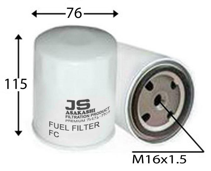 FC0036Z FUEL FILTER M A N  ENGINES SCANIA D11 / DN11 SCANIA D8 / DN14 / DN8  SCANIA DS11 R40A TURBO w/ Spin On Fuel Filters SCANIA DS14 / DS18 / DS8