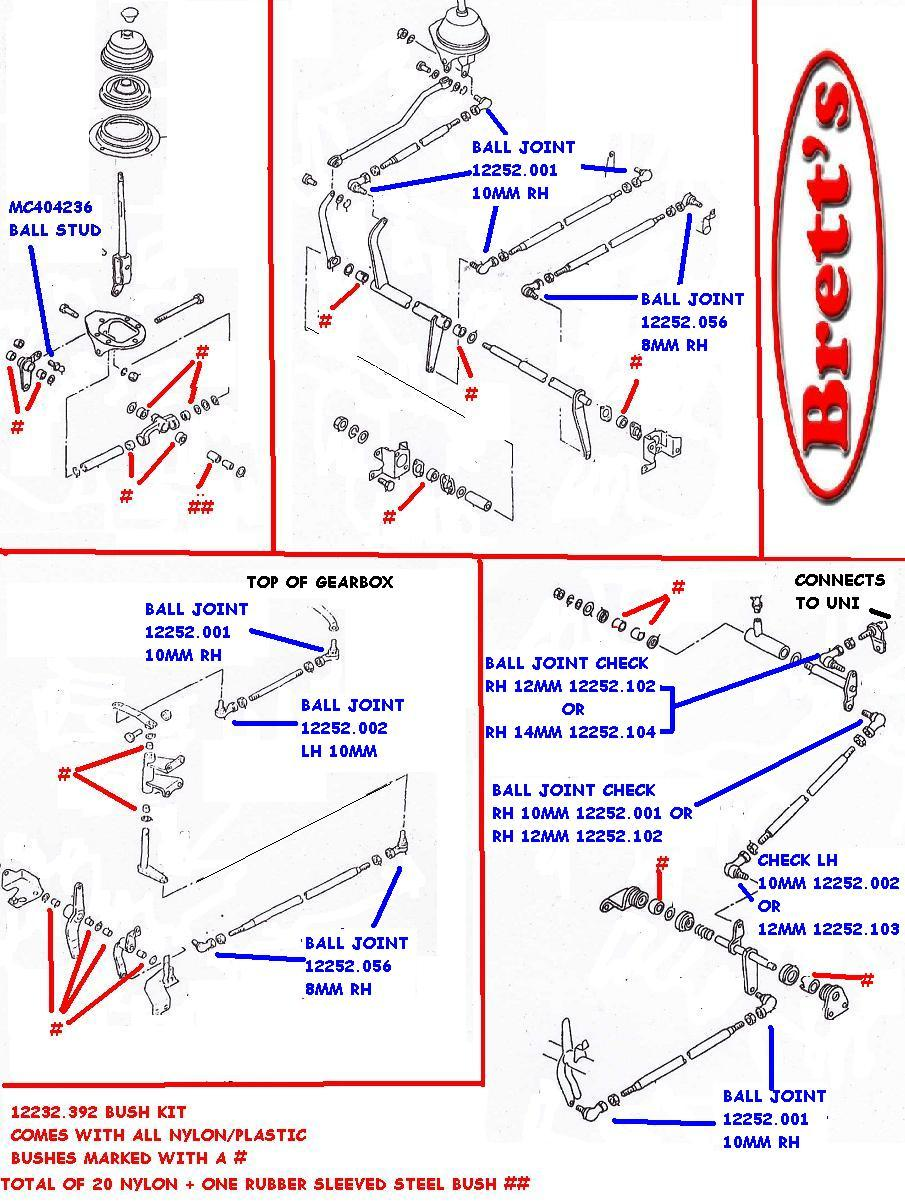 Ud Truck Wiring Diagram Circuit And Hub Trucks 12232 392 Gear Linkage Kit Bush Set Overhaul Your Sloppy 96 Chevy 89